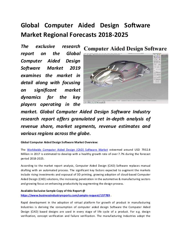 Global Computer Aided Design Software Market Size