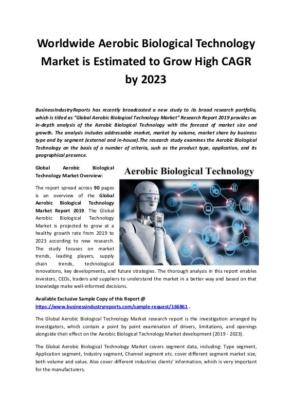 Global Aerobic Biological Technology Market Report