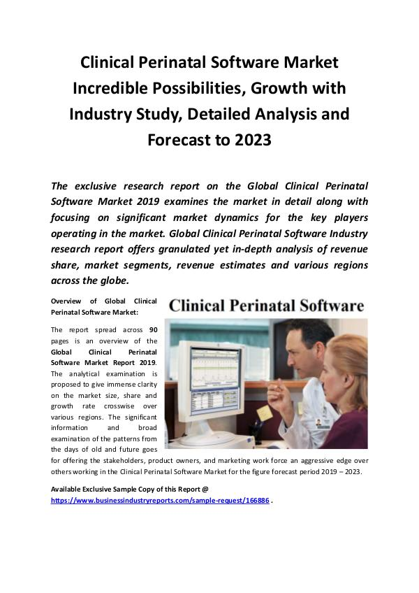 Market Research Reports Global Clinical Perinatal Software Market Report 2