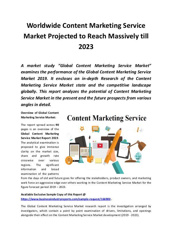 Global Content Marketing Service Market Report 201