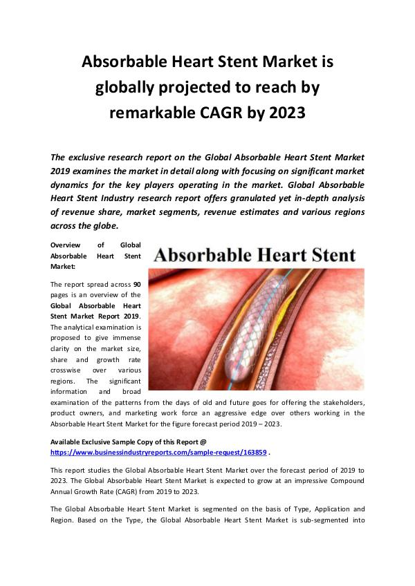 Global Absorbable Heart Stent Market Report 2019