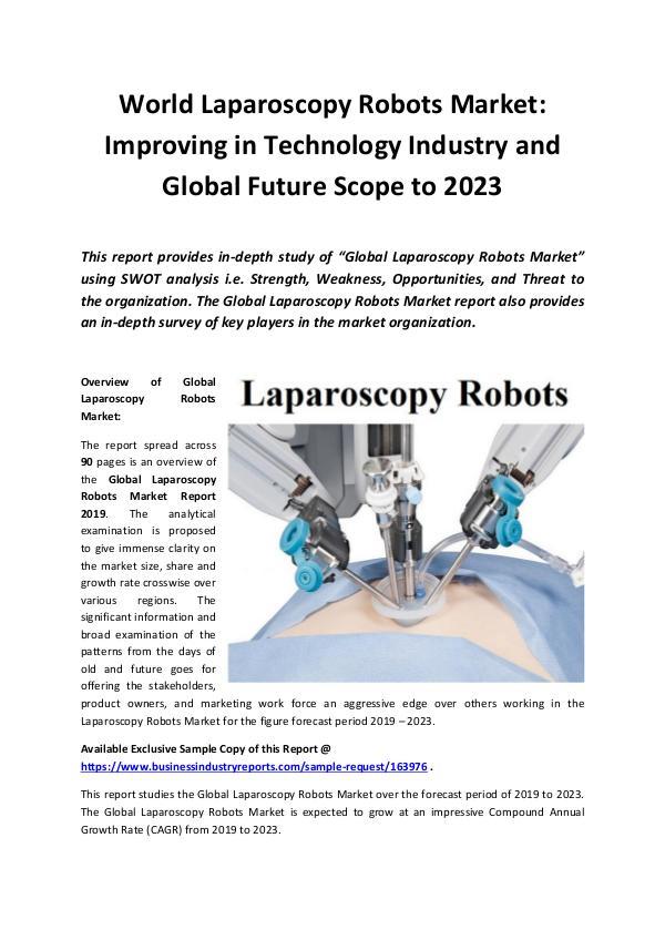 Global Laparoscopy Robots Market Report 2019