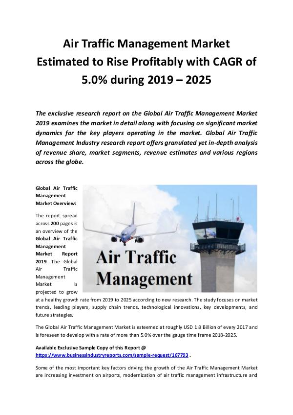 Global Air Traffic Management Market 2019