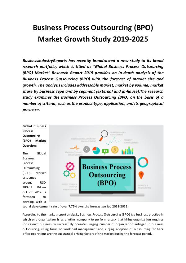 Global Business Process Outsourcing (BPO) Market 2
