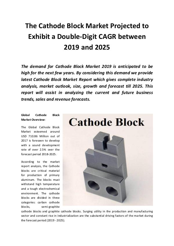 Global Cathode Block Market 2019