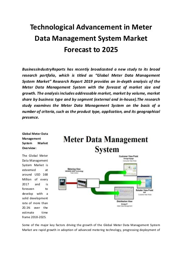 Market Research Reports Global Meter Data Management System Market 2019