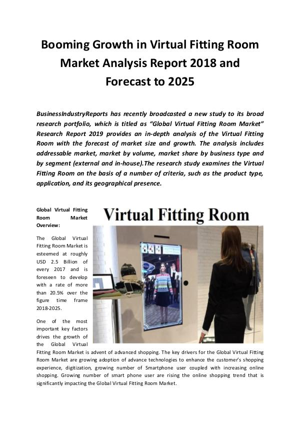 Global Virtual Fitting Room Market 2019