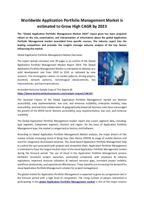 Application Portfolio Management Market 2019-conve