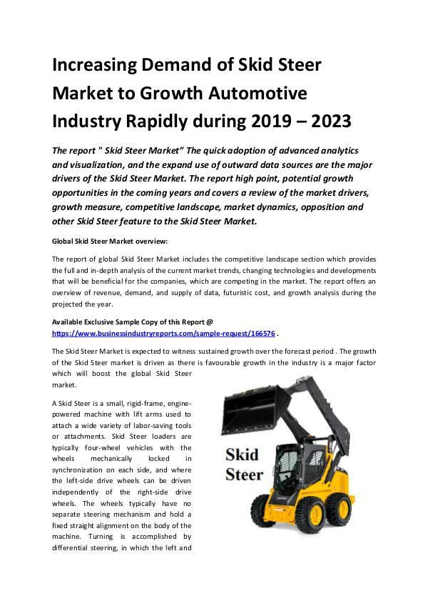 Global Skid Steer Market Report 2019