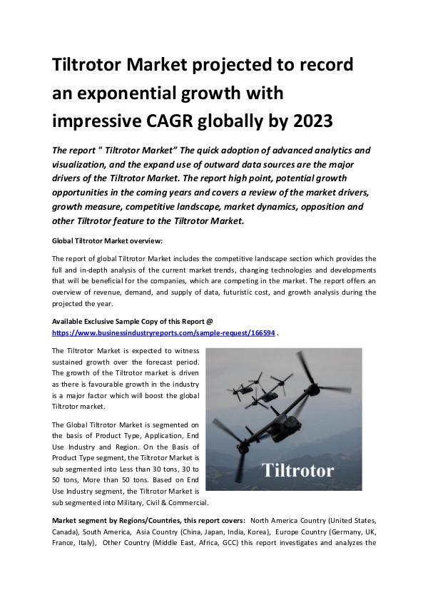 Global Tiltrotor Market Report 2019