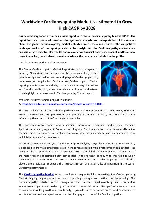Cardiomyopathy market gauge, Trend 2028