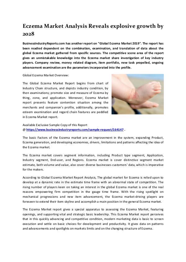 Market Research Reports Eczema Market 2019