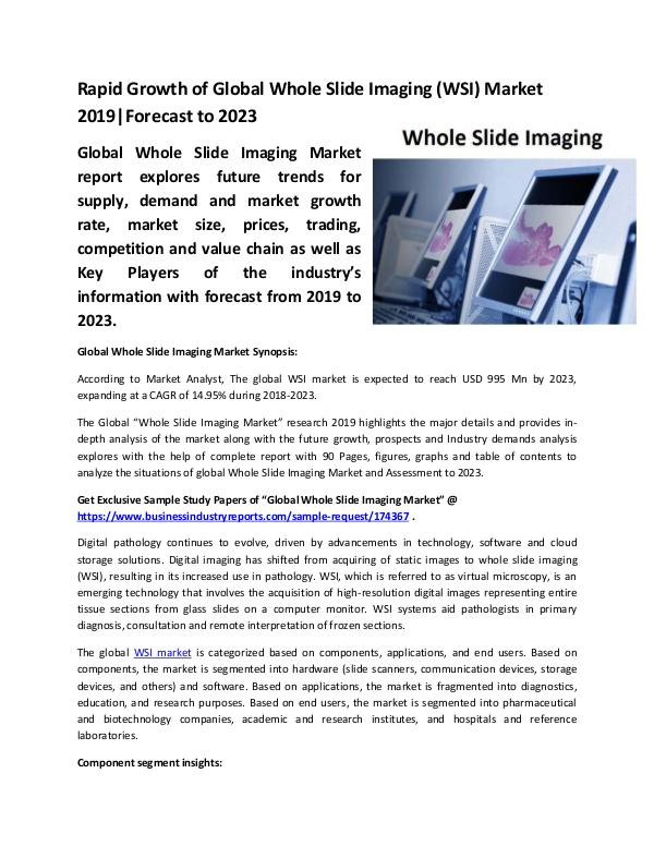 Global Whole Slide Imaging
