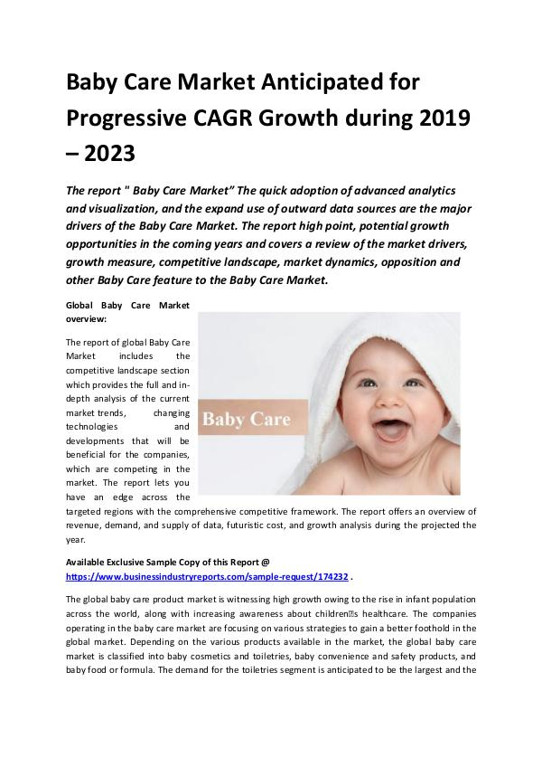 Global Baby Care Market 2018-2023.docx