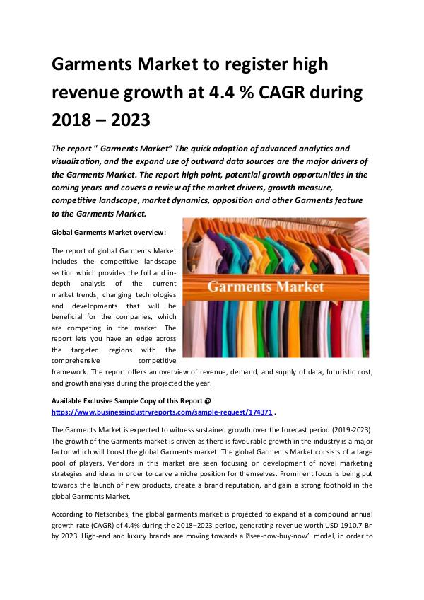 Market Research Reports Global Garments Market 2018-2023.docx