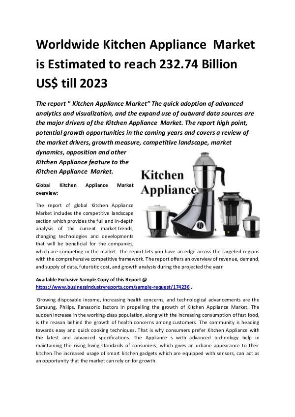 Global Kitchen Appliance  Market 2018-2023.docx