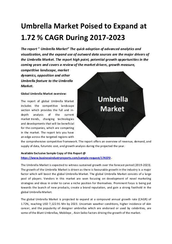 Global Umbrella Market 2018-2023.docx