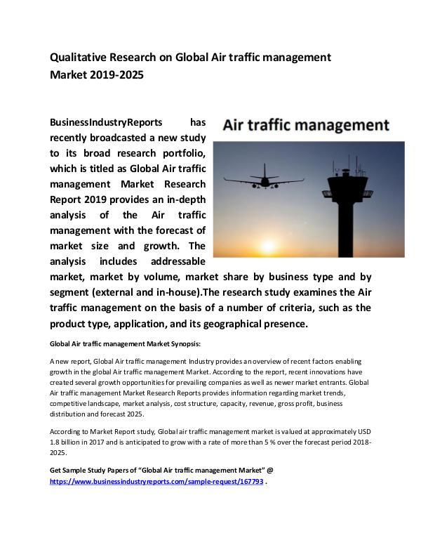 Global Air traffic management Market Size study Ap