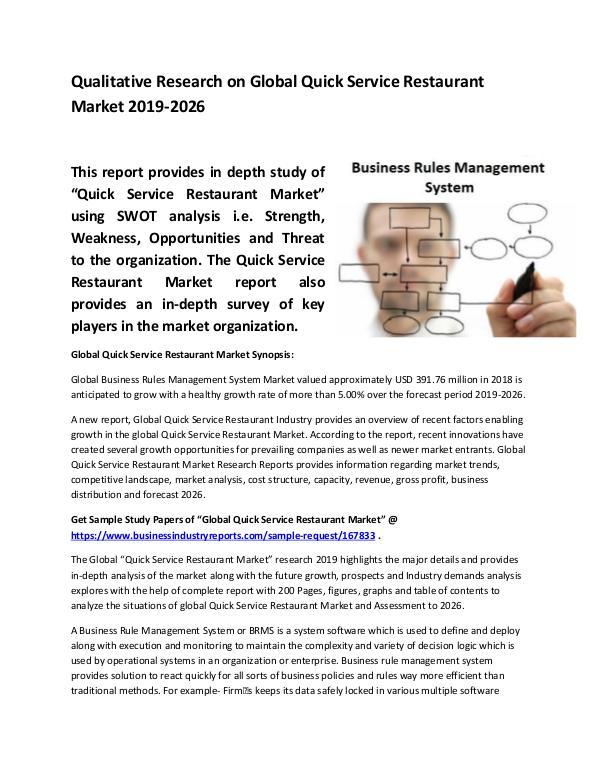 Global Business Rules Management System Market Siz