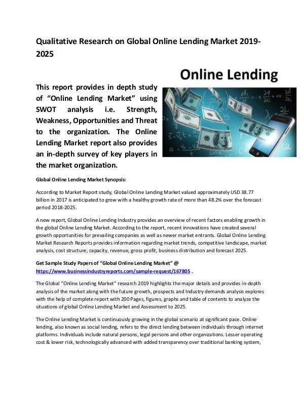 Global Online Lending Market Size study