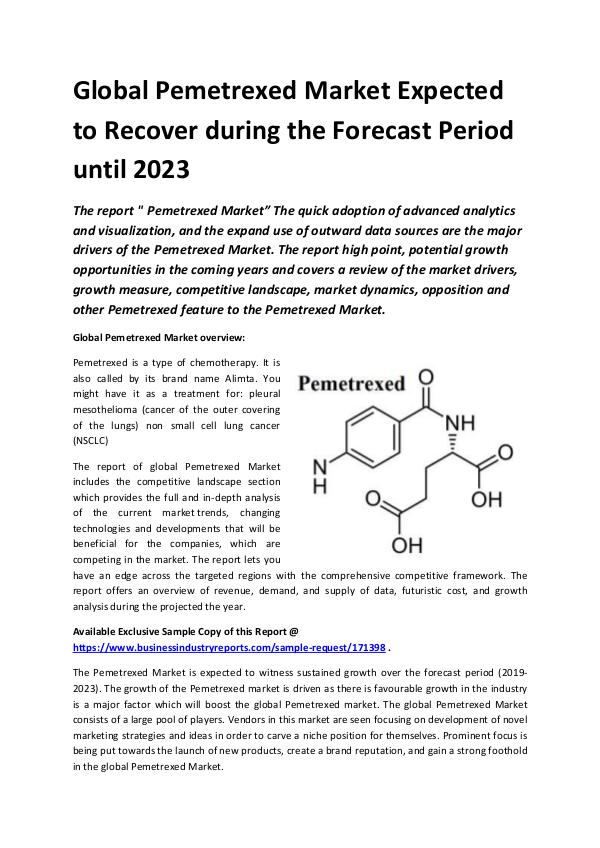 Global Pemetrexed Market Report 2019.docx
