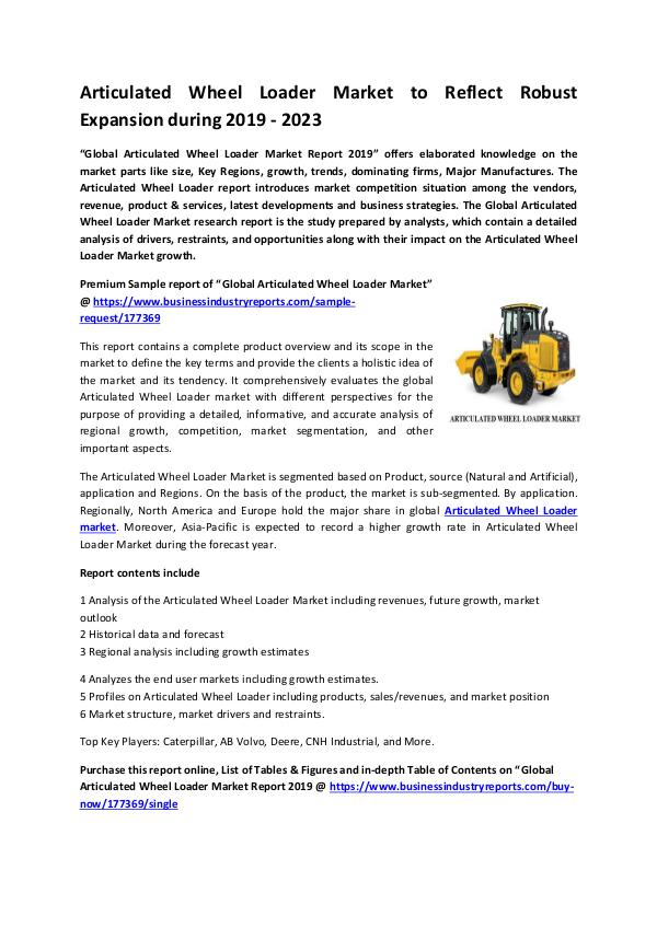 Articulated Wheel Loader Market 2019