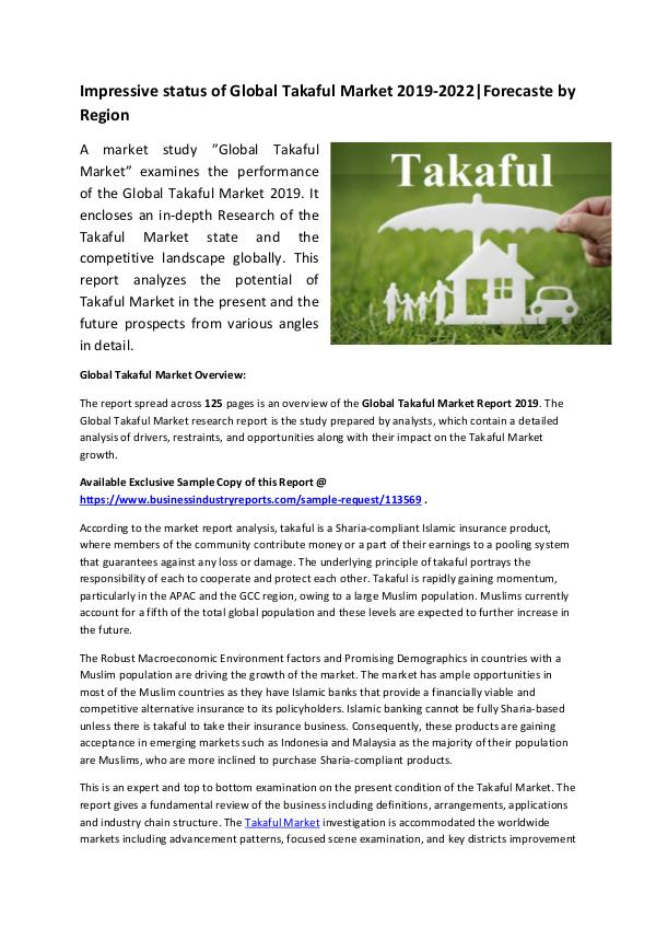 Global Takaful Market Report 2019