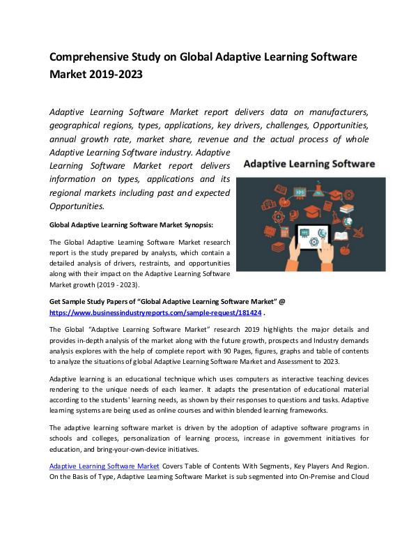 Global Adaptive Learning Software Market Report 20