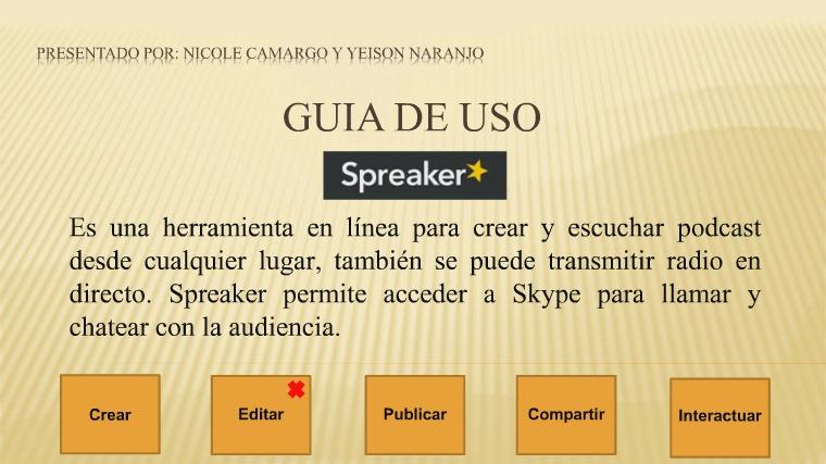 Spreaker: Guía de uso. Spreaker