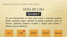 Spreaker: Guía de uso.