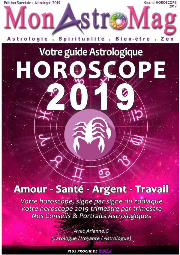 Guide Astro et Horoscope 2019 - MonAstroMag SCORPION - Grand Horoscope 2019