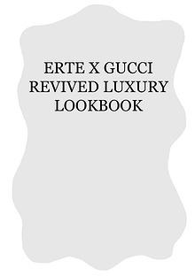 ERTE X GUCCI REVIVED LUXURY LOOKBOOK