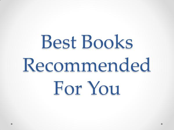 Best Books Recommended For You