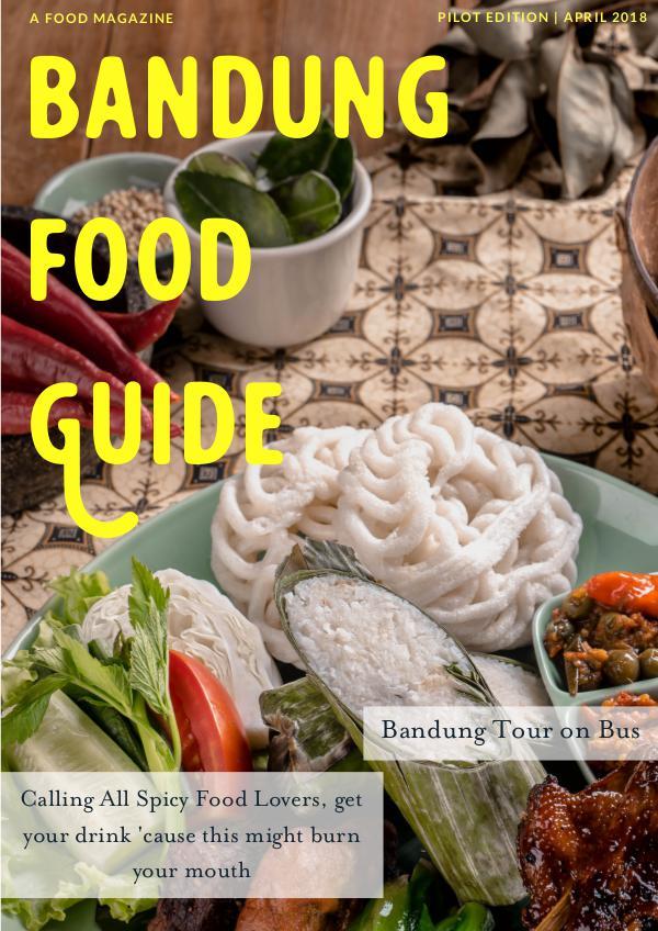Bandung Food Guide Pilot Edition, April 2018