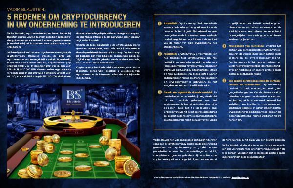 Vadim Blaustein: 5 redenen om cryptocurrency in uw onderneming te int Dutch
