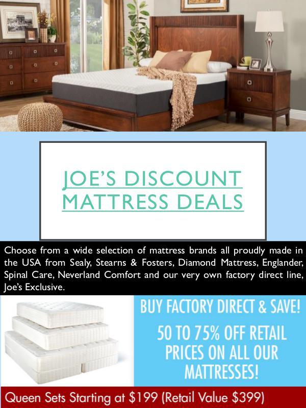 Joe's Discount Mattress Deals Joe's Discount Mattress Deals