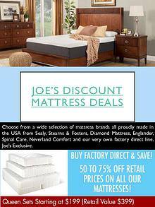 Joe's Discount Mattress Deals