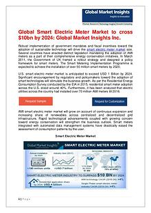 Smart Electric Meter Market to cross $10bn by 2024