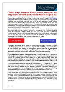 Alkyl Acetates Market - Share, Growth, Analysis, Forecast to 2025