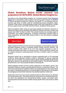 Butadiene Market trends research and projections for 2019-2025