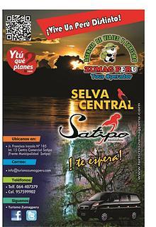 Programa de tours para Fiestas Patrias en Satipo