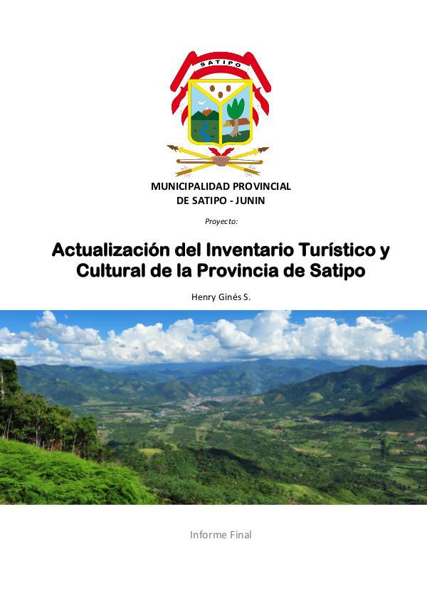 Inventario Turístico Satipo-Perú | Selva Central | Turismo | Mapa Inventario Turístico de la Provincia de Satipo