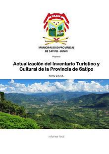 Inventario Turístico Satipo-Perú | Selva Central | Turismo | Mapa