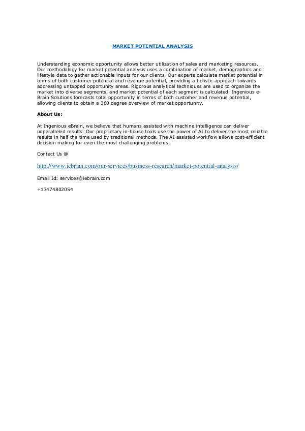 Global Market Intelligence Study-Ingenious Ebrain MARKET POTENTIAL