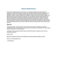 Global Report on Customer Insights & Surveys by Ingenious Ebrain