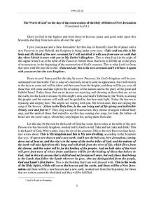 The Word of God in Romania secration of the Holy of Holies of New Jerusalem