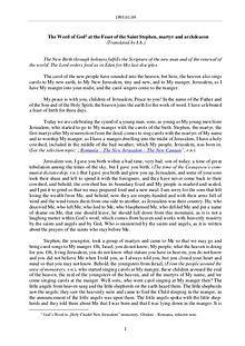 The Word of God in Romania t martyr and archdeacon Stephen