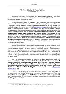 The Word of God in Romania any