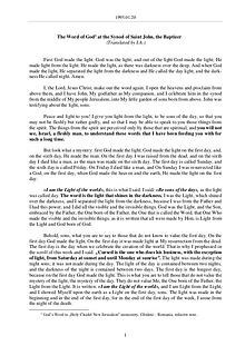 The Word of God in Romania ohn the Baptizer