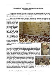 The Word of God in Romania ierarch Basil the Great